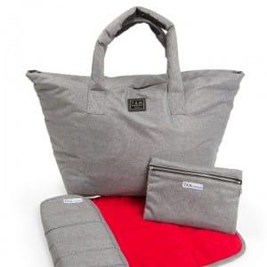 7am Enfant Roma Bag - Heather Grey Red