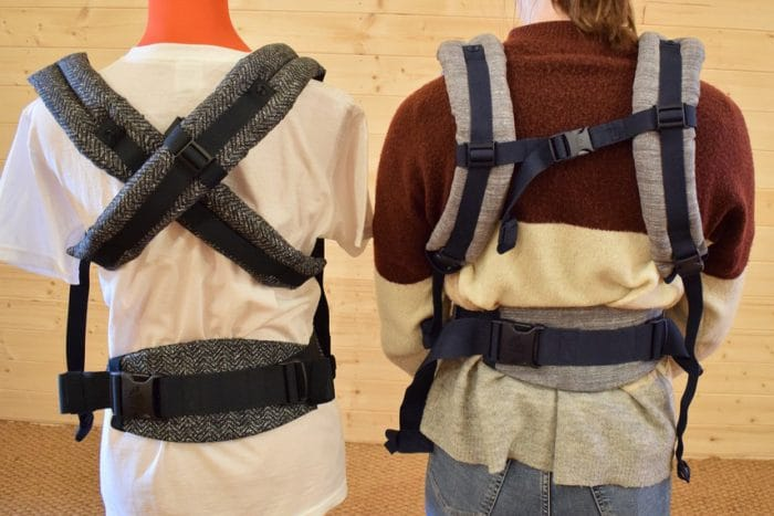 Ergobaby Omni 360 Baby Carrier with Crossed Straps vs Ergobaby Four Position 360 Baby Carrier with 'H' Straps