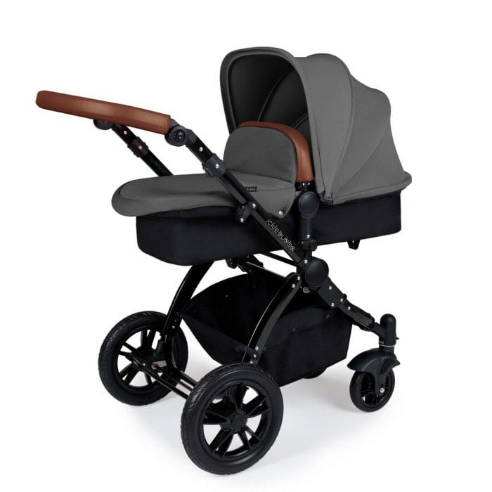 Ickle Bubba Stomp v3 Travel System - Graphite/Black Chassis
