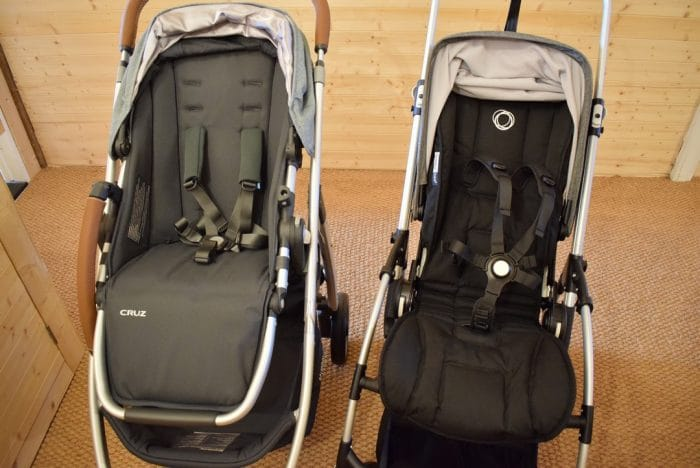 Safety Harnesses Of Bugaboo Bee 5 And UPPAbaby Cruz