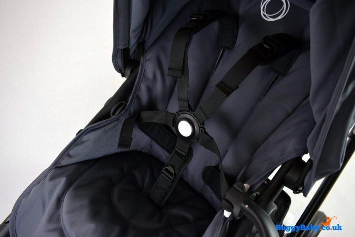 Bugaboo Fox Pushchair Black Chassis - Steel Blue + Maxi Cosi CabrioFix Travel System