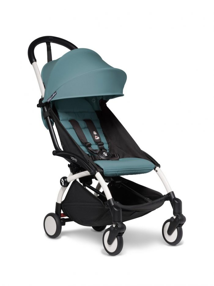 BABYZEN YOYO 2 Pushchair White Chassis And 6+ Colour Pack in Aqua