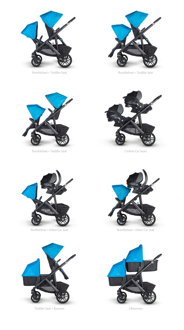 UPPAbaby Vista 2015 configurations