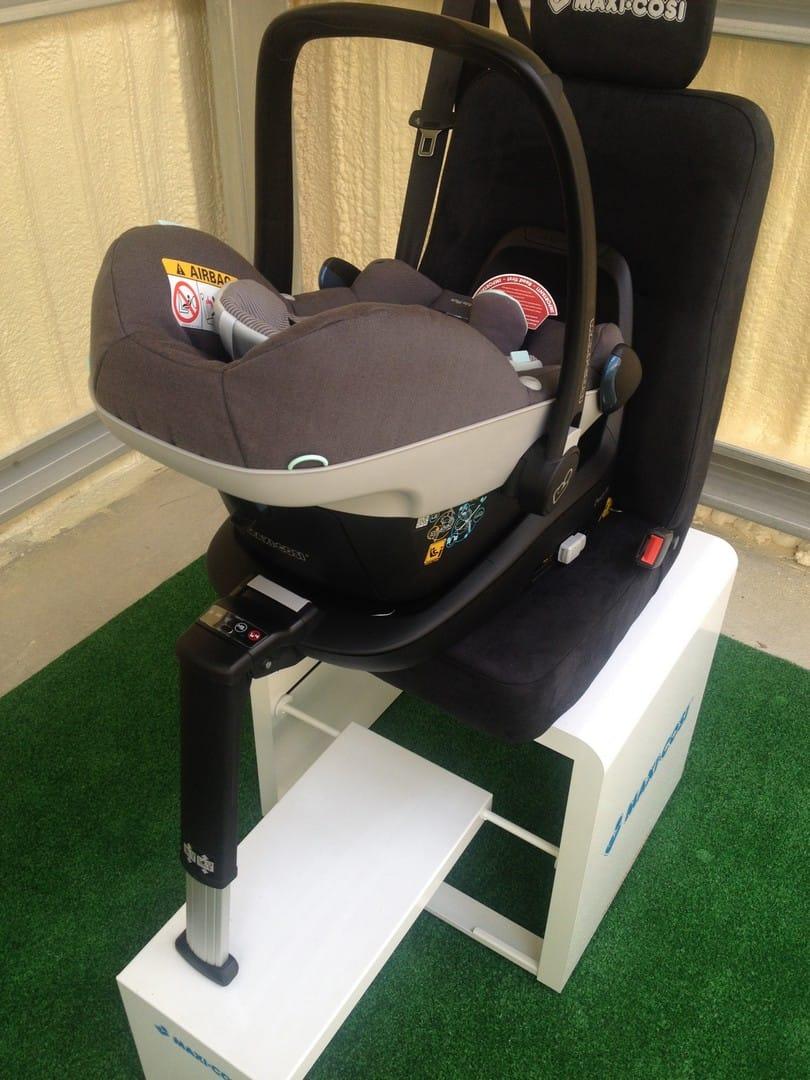Maxi-Cosi Pebble Plus Car Seat installed using the Maxi-Cosi 2wayFix Base