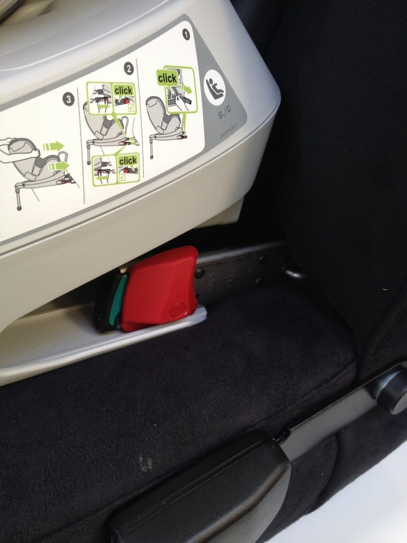 Britax DualFix fitted ISOfix points