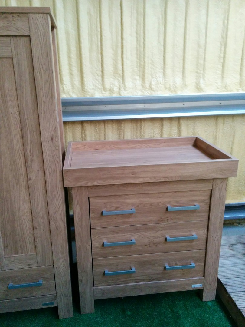 BabyStyle Bordeaux Dresser with Baby Changer lid top