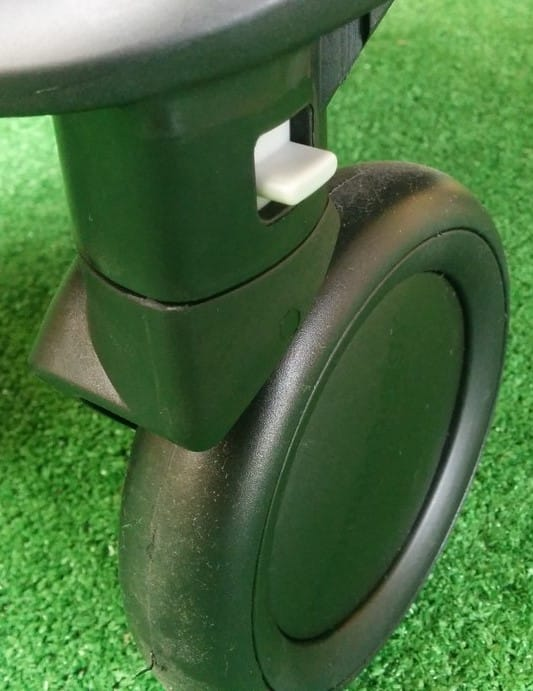Front wheels of the Mountain Buggy Nano v2