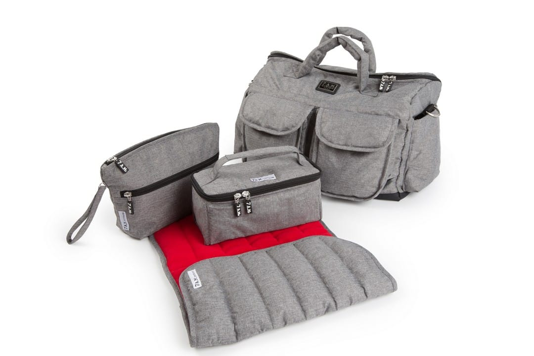 7am Enfant Voyage Bag - Heather Grey/Red