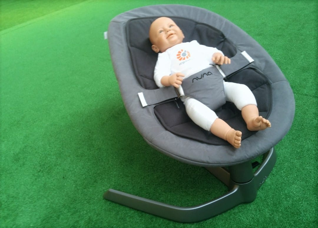 Baby safely rocks side-to-side