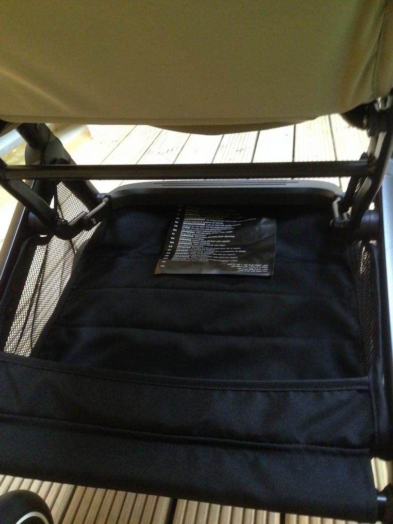 GB Qbit Plus Pushchair storage basket