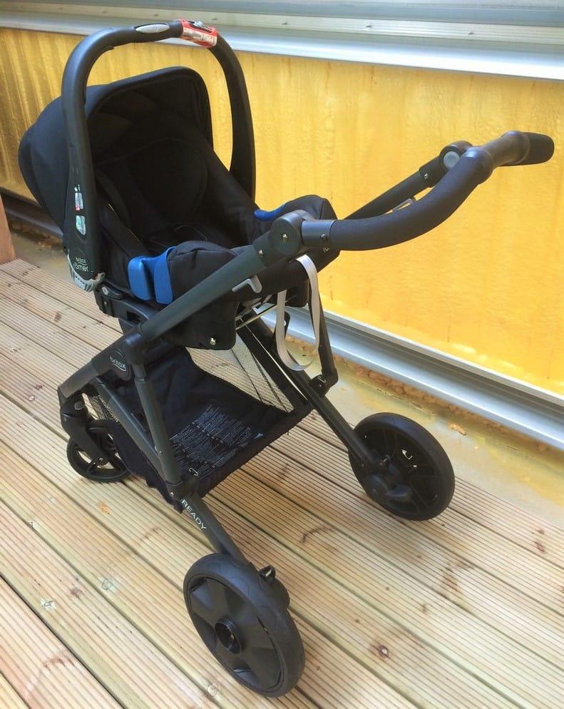 Britax Baby Safe i-Size Car Seat - on Britax B-Ready Pushchair