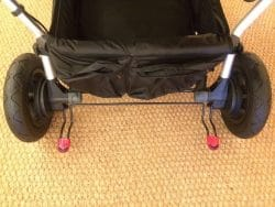 Mountain Buggy Duet V3 Pushchair in Grid – Foot brake
