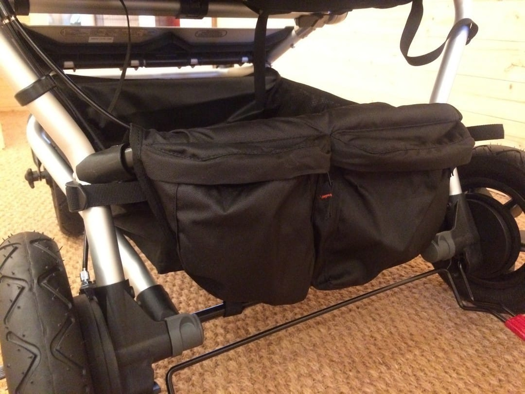 Mountain Buggy Duet V3 Pushchair in Grid – Storage Basket