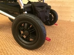 Mountain Buggy Duet V3 Pushchair in Grid – Rear Tyres