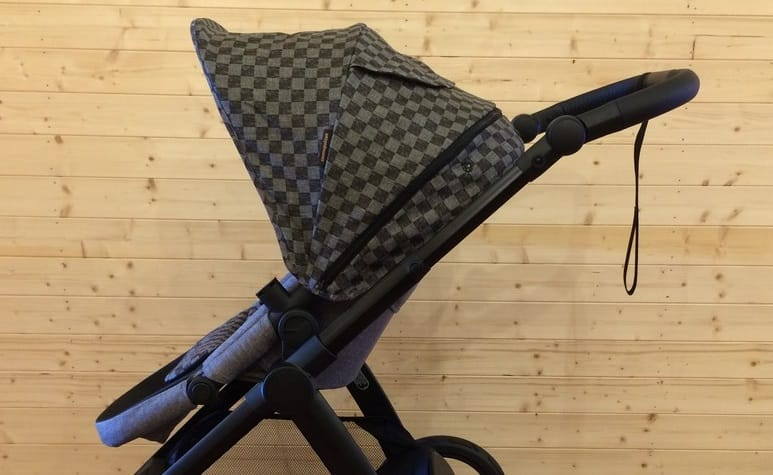 Sun canopy of the Mountain Buggy Cosmopolitan Luxury Pushchair