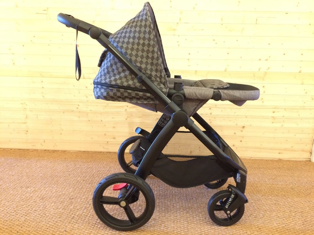 The Mountain Buggy Cosmopolitan Luxury Pushchair fully reclined