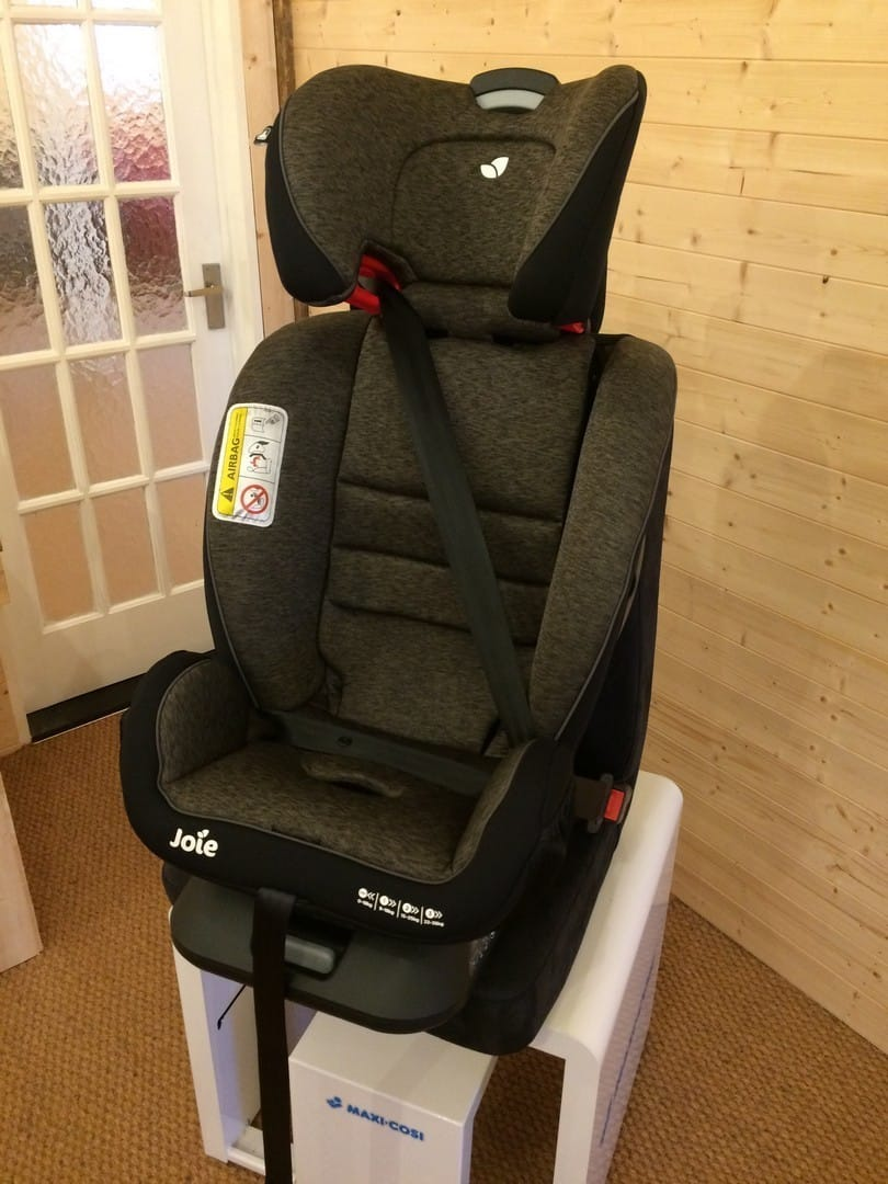 Joie Every Stage FX 0+/1/2/3 Car Seat installed forwards facing in group 2/3 mode