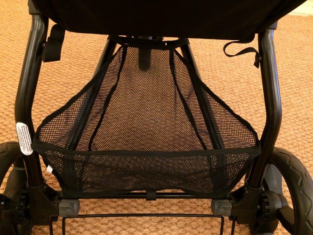 Under seat storage basket