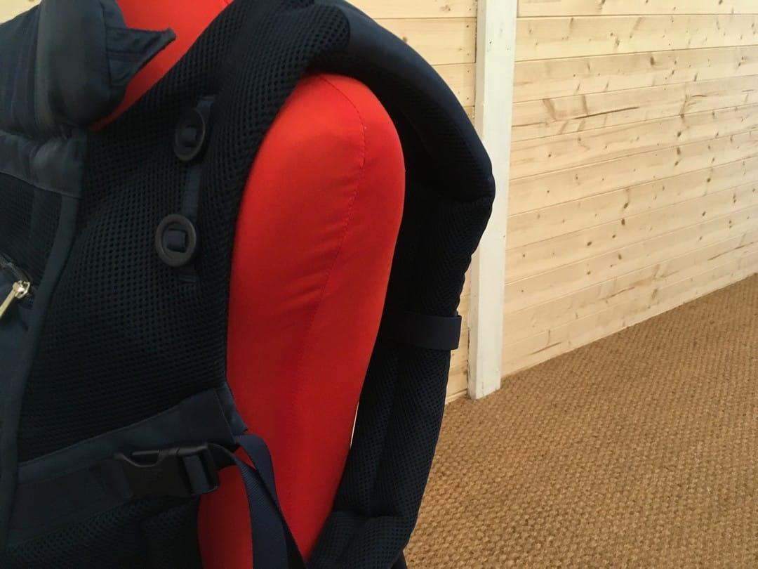Padded shoulder straps