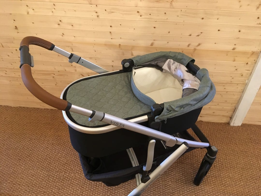 Inside the carrycot