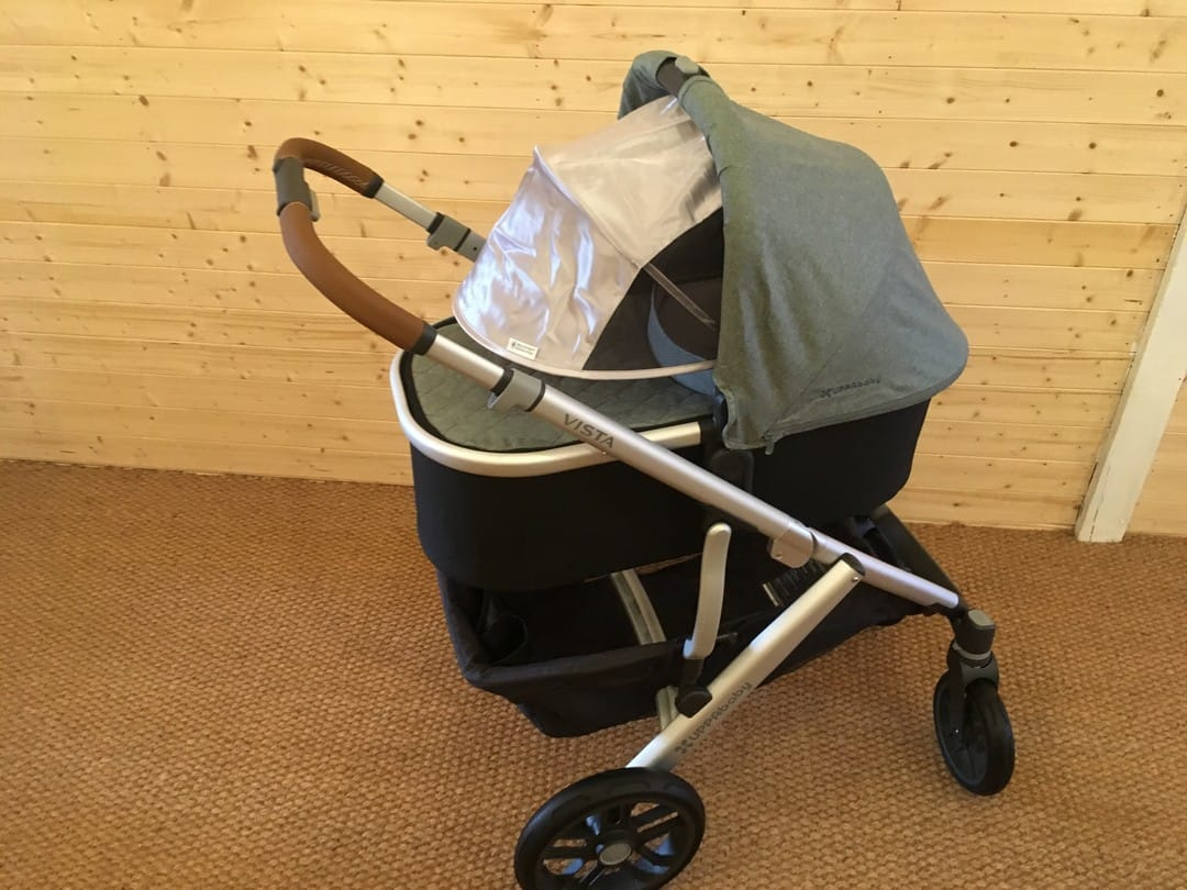 Carrycot sun canopy fully extended