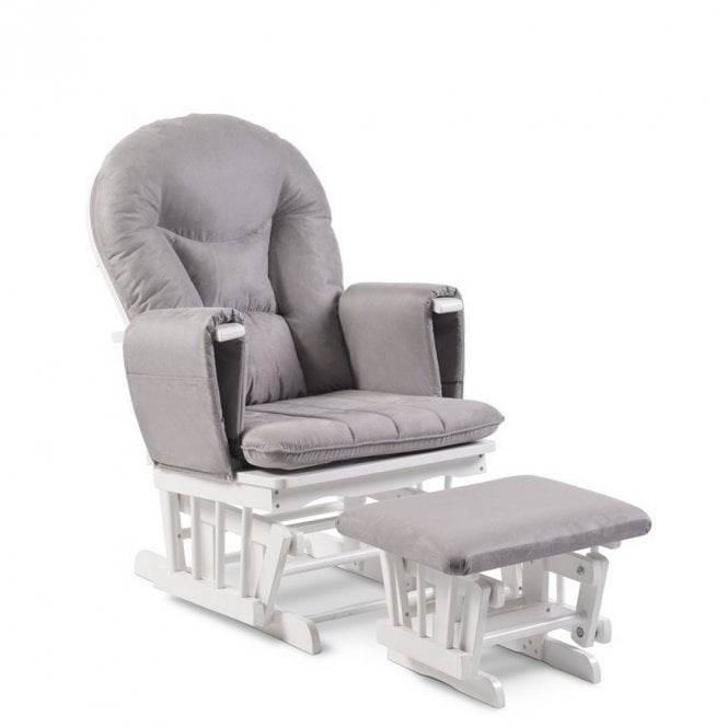 Alford Glider Chair and Stool - Pearl Grey