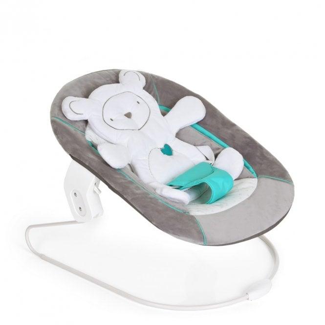 Alpha Baby Bouncer 2 in 1 - Hearts Grey