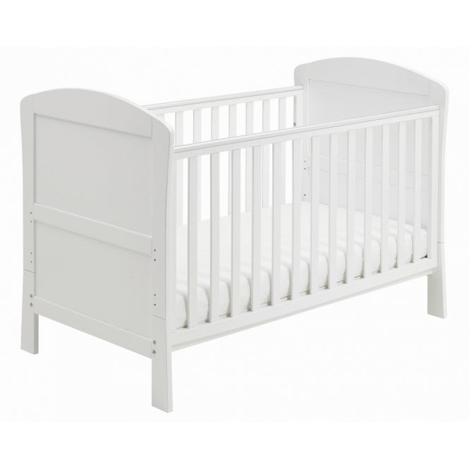 Aston Drop Side Cot Bed - White