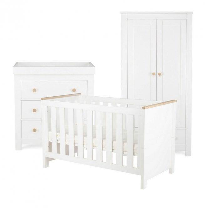 Aylesbury 3 Piece Furniture Set - Ash / White