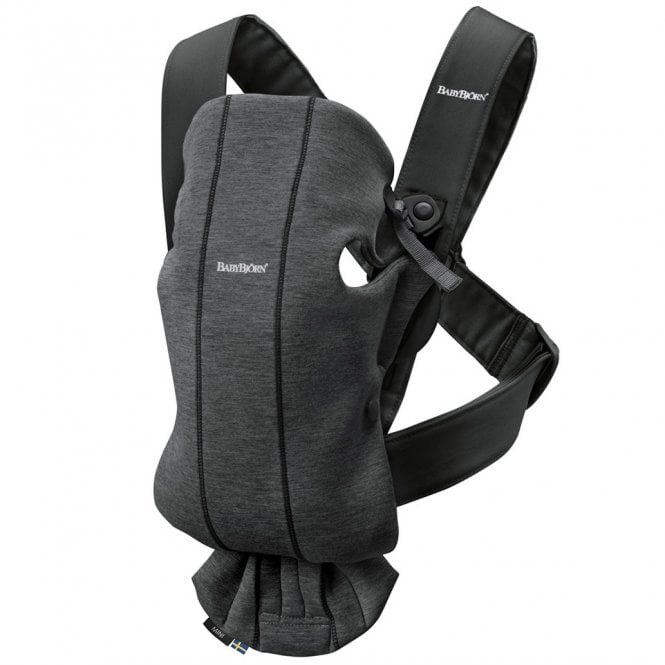 Baby Carrier Mini - 3D Jersey - Charcoal Grey