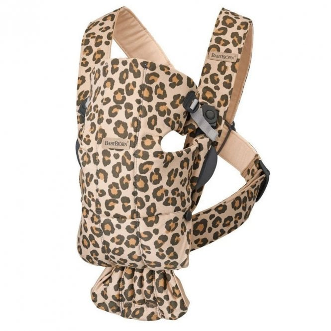 Baby Carrier Mini - Cotton - Beige + Leopard