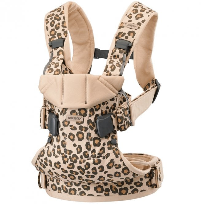 Baby Carrier One - Cotton Mix - Beige + Leopard
