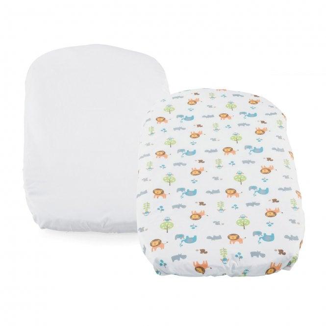 Baby Hug Crib Sheet Set - Pack Of 2 - Little Animals