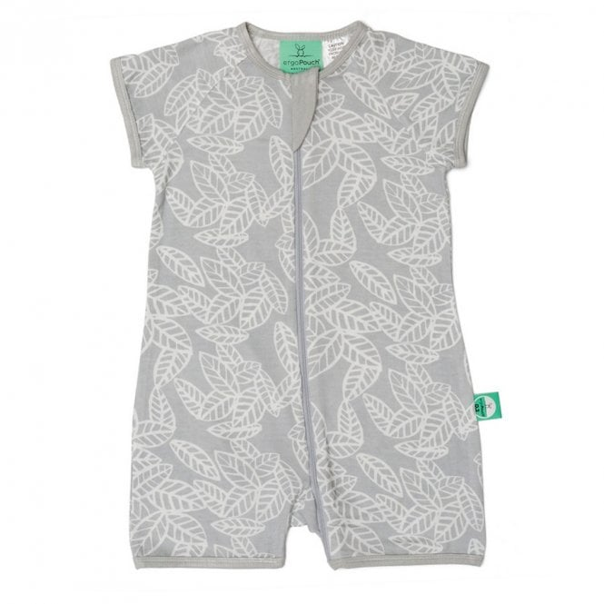 Bamboo Layers Short Sleeve Sleep Wear 0.2 Tog - Rainforest Leaves - 6-12 Months