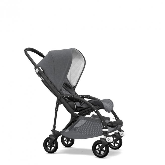 Bee 5 Classic Collection Pushchair Black Chassis - Grey Melange