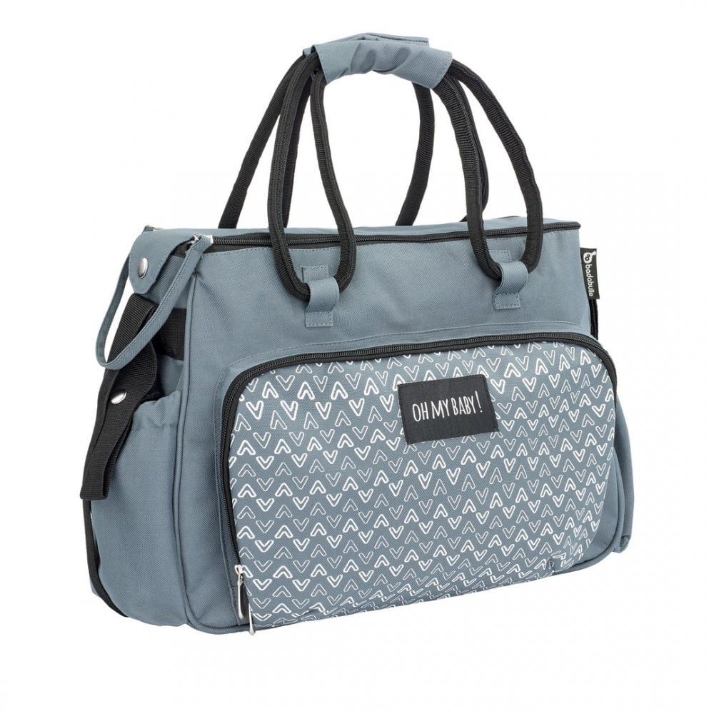 006c4a53875a7 Badabulle Boho Changing Bag - Grey | Pushchair Accessories | BuggyBaby
