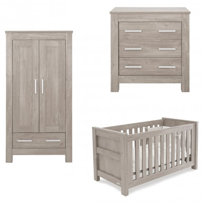 Bordeaux Ash 3 Piece Furniture Set + FREE Cot Bed Mattress