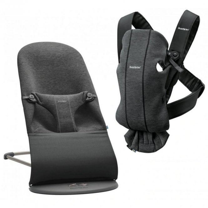 Bouncer Bliss + Baby Carrier Mini - Charcoal Grey