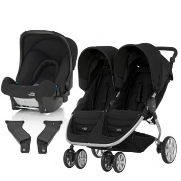 B-Agile Double Travel System + Baby Safe