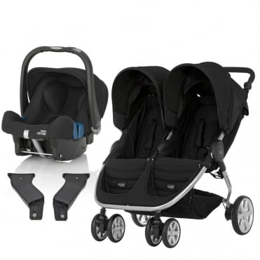 B-Agile Double Travel System + Baby Safe Plus SHR II