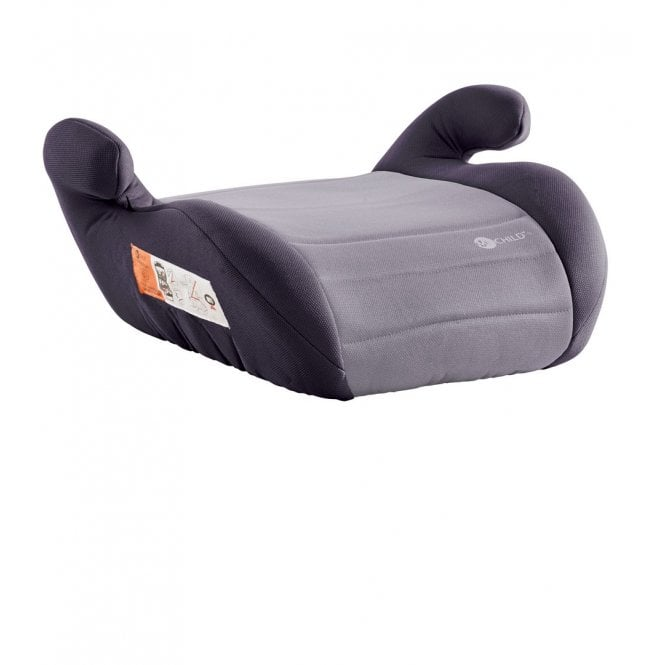Button Booster Seat - Black / Grey
