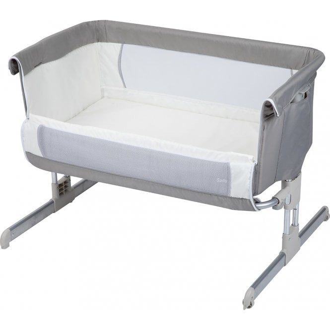 Calidoo Bedside Crib - Warm Grey