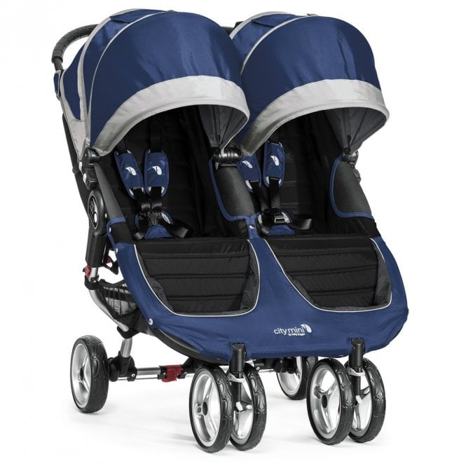 City Mini Double Stroller - Cobalt / Grey (disco 05 nov 2019)