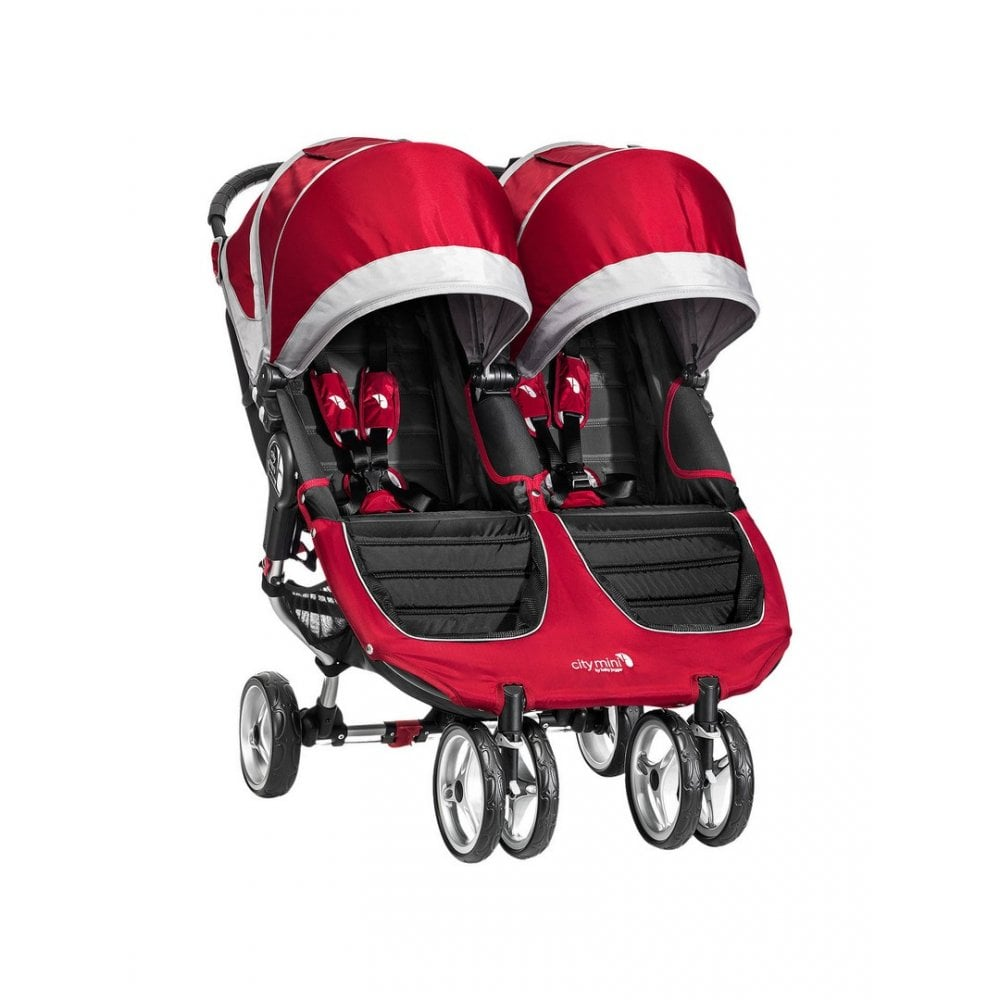 Baby Jogger City Mini Double Stroller - Crimson | BuggyBaby