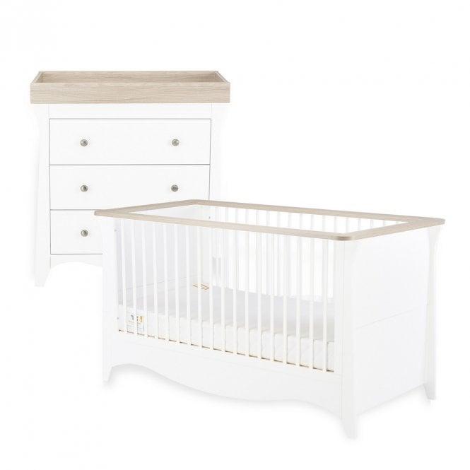 Clara 2 Piece Furniture Set - Driftwood Ash / White