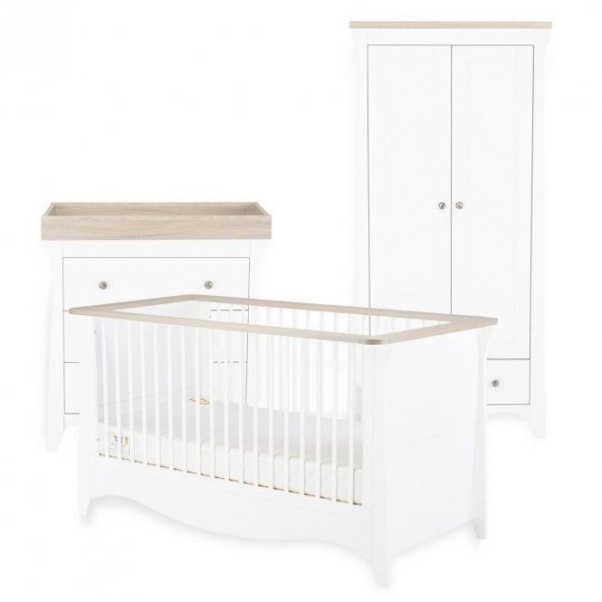 Clara 3 Piece Furniture Set - Driftwood Ash / White