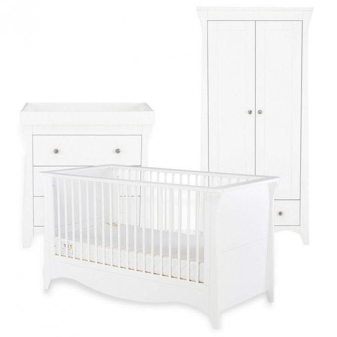Clara 3 Piece Furniture Set - White