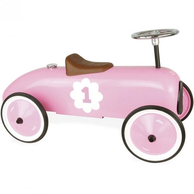 Classic Vintage Ride On Car - Pink