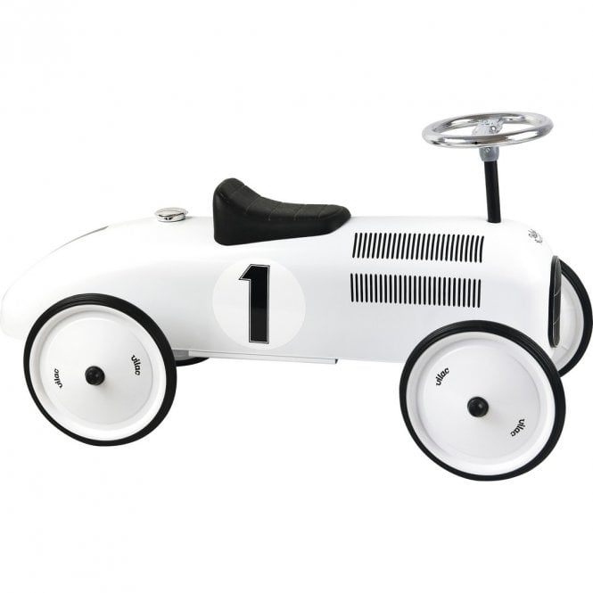 Classic Vintage Ride On Car - Polar White