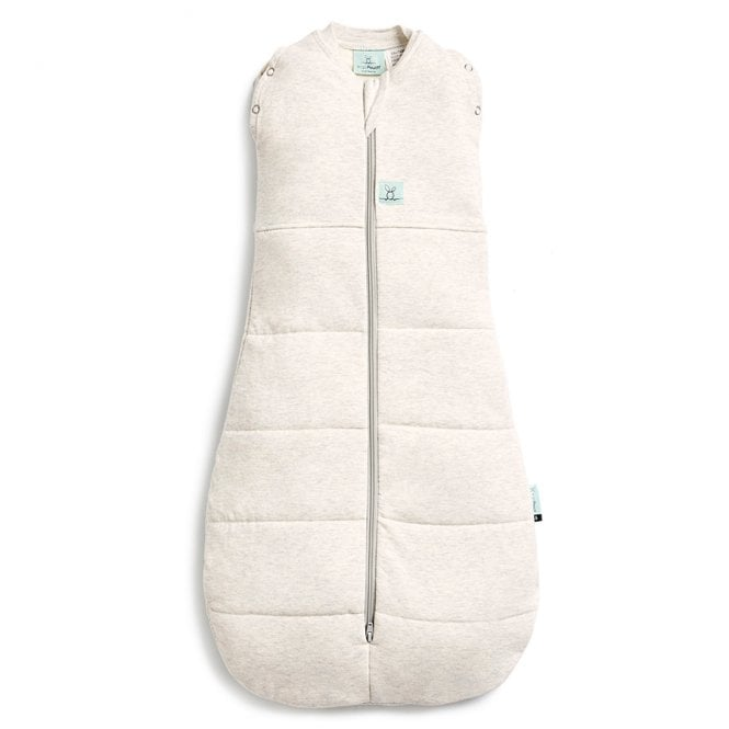 Cocoon Winter Swaddle Sleep Bag 2.5 Tog - Grey Marle - 3-12 Months